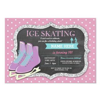 Pink Ice Skating Birthday Party Rink Skate Invite
