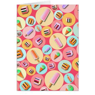 Pink Icecream Candy Greeting Card