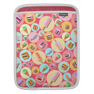 Pink Icecream Candy iPad Sleeve