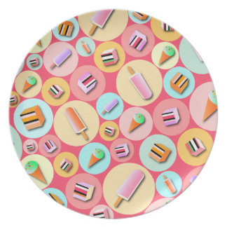 Pink Icecream Candy Plate