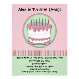 Pink Icing Girl's Birthday Party Invitation