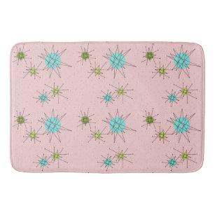 Pink Iconic Atomic Starbursts Bath Mat