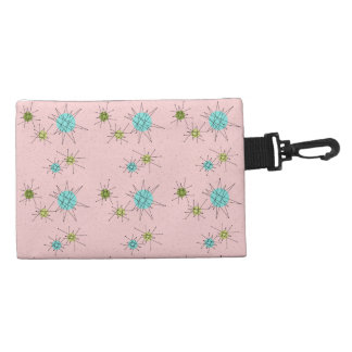 Pink Iconic Atomic Starbursts Clip On Bag