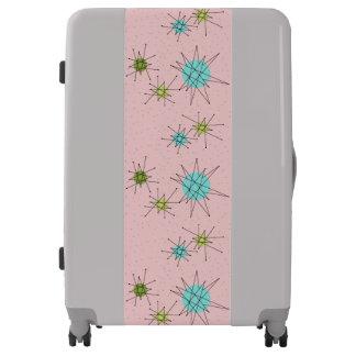 Pink Iconic Atomic Starbursts Luggage Suitcase