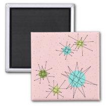 Pink Iconic Atomic Starbursts Magnet