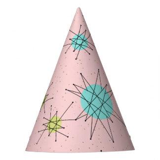 Pink Iconic Atomic Starbursts Party Hat