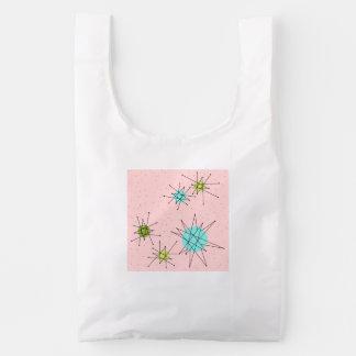 Pink Iconic Atomic Starbursts Reusable Bag