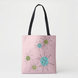 Pink Iconic Atomic Starbursts Tote Bag