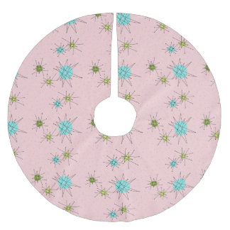 Pink Iconic Atomic Starbursts Tree Skirt