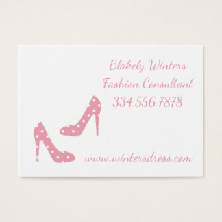 Pink If The Shoe Fits Fashion Make Up Template Business Card