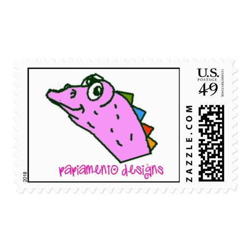 Pink Iguana Head (tm) Stamps