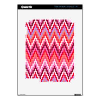 Pink Ikat Chevron Geometric Zig Zag Stripe Pattern iPad 3 Decal