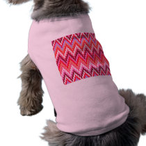 Pink Ikat Chevron Geometric Zig Zag Stripe Pattern Shirt