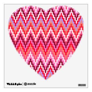 Pink Ikat Chevron Geometric Zig Zag Stripe Pattern Wall Decal