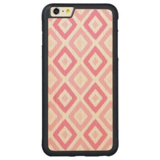 Pink Ikat Diamond Pattern Carved® Maple iPhone 6 Plus Bumper