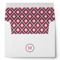 Pink Ikat Monogram Envelope
