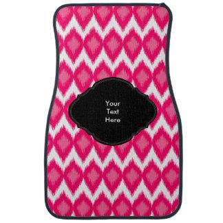 Pink Ikat Style Weave Pattern Car Floor Mat