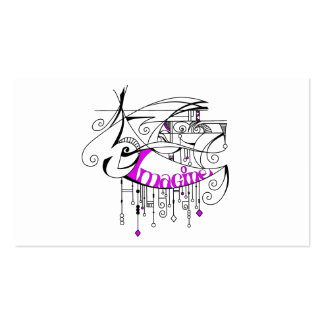 Pink Imagine In Lines and Dangles Business Cards