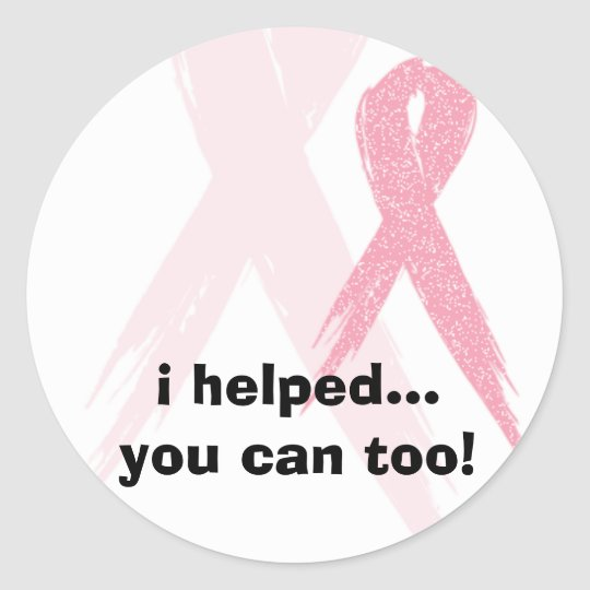 pink_img, i helped...you can too! classic round sticker