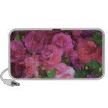 Pink Impatiens Floral Design Mini Speakers