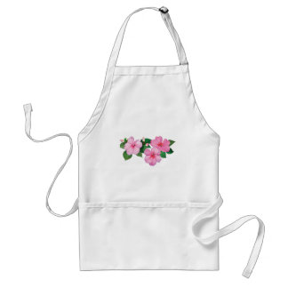Pink Impatiens with Buds Adult Apron