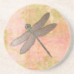 Pink Impressions Dragonfly Beverage Coasters