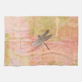 Pink Impressions Dragonfly Hand Towel