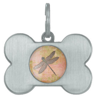 Pink Impressions Dragonfly Pet ID Tag