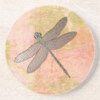 Pink Impressions Dragonfly Sandstone Coaster