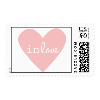 Pink In Love Postage Stamp