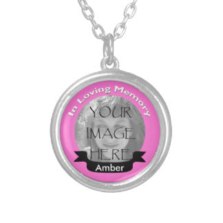 Pink In Loving Memory Photo Necklace