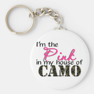 Pink In My House Of Camo Keychain
