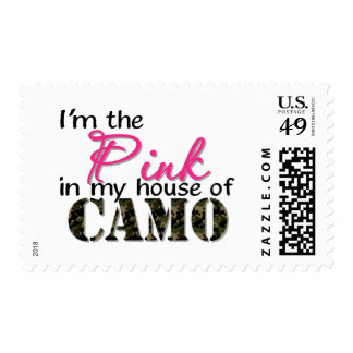 Pink In My House Of Camo Postage Stamp