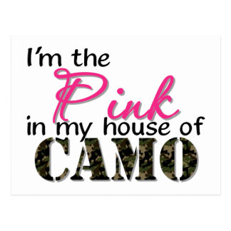 Pink In My House Of Camo Postcard