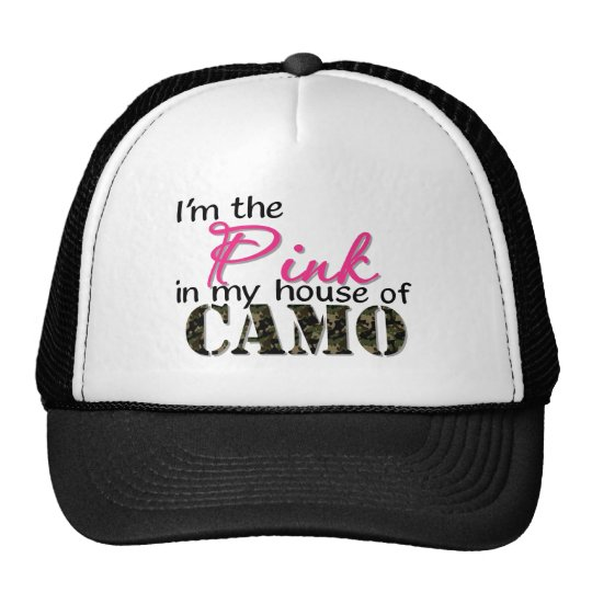 Pink In My House Of Camo Trucker Hat