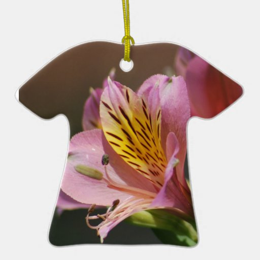 Pink Inca Lily flowers and meaning Ceramic Ornament