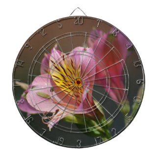 Pink Inca Lily flowers and meaning Dart Board