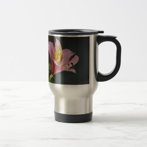 Pink Inca Lily flowers and meaning 15 Oz Stainless Steel Travel Mug