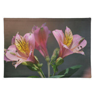 Pink Inca Lily flowers and meaning Place Mat
