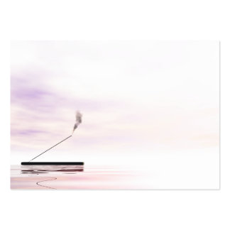 Pink incense large business card
