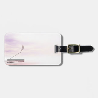 Pink incense luggage tag