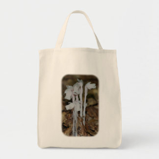 Pink Indian Pipes Floral Nature Tote Bag