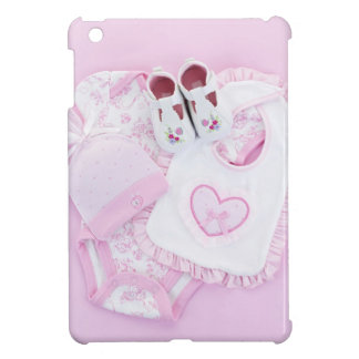 Pink infant clothes for baby shower iPad mini cases