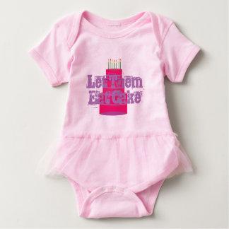 "Pink Infant T-shirt W/Tutu ""Let Them Eat Cake"""