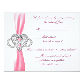 Pink Infinity Heart Response Card Custom Announcements