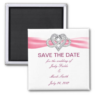 Pink Infinity Heart Save The Date Magnet