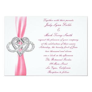 Pink Infinity Heart Wedding Invitation