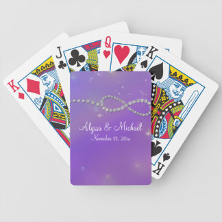 Pink Infinity Symbol Sign Infinite Love Twinkling Bicycle Playing Cards