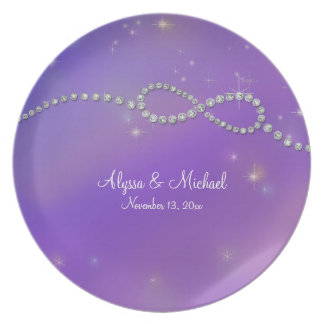Pink Infinity Symbol Sign Infinite Love Twinkling Plate