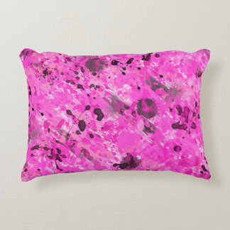 Pink Ink Accent Pillow